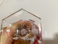 10 Pre-1936 BACCARAT COMPIEGNE Pink Cut to Clear 5 7/8 Port Wine Glass Goblets