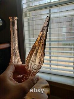 APRICOT PINK genie bottles italian glass