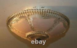 Antique 12 inch pink glass Art Deco ceiling light fixture chandelier 1940s