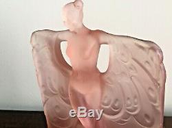 Antique Art Deco Mckee Pink Glass Danse De Lumiere Nude Lamp 1930's Top Only