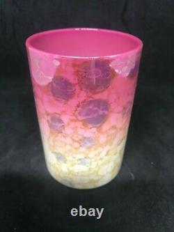 Antique New England Glass Co. Pink Agata Art Glass Tumbler-Very Strong Mottling
