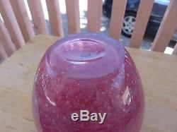 Antique Steuben Cluthra Vase Shape 2683 6 1/2 Tall Rose Pink