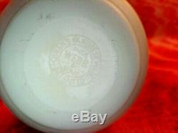 Antique Thomas Webb & Sons Queens Burmese Glass Vase Stamped On Base