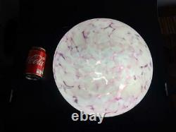 Art Deco Glass Fly Catcher pink Marbled Ceiling Light Shade with chain