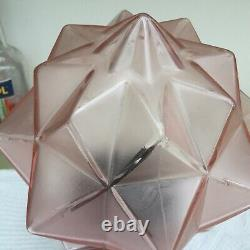 Art Deco Pink Walther and Sohne Lamp, Star Shade Fantastic Condition