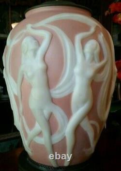Art Deco Table Lamp Dancing Nudes Nymphs c. 1930