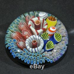Art Glass Coral Reef Paperweight by Trey Cornette