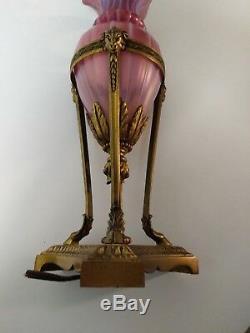 Authentic Carder Era Steuben ORIENTAL POPPY Table Lamp, c. 1920