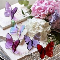 BACCARAT Crystal PAPILLON BUTTERFLY PEONY H 2.5 NEW! Orig $140