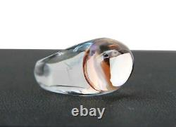 Baccarat Jewelry Tango Clear & Light Pink Crystal Ring Sz 51 5.5 Us New France