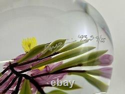 Chris Buzzini Art Glass Pink Blossom Flower Bouquet Paperweight Limited Ed 9/25