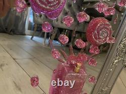 Coco Chanel Champagne Glass 3D Glitter Art Mirrored Picture