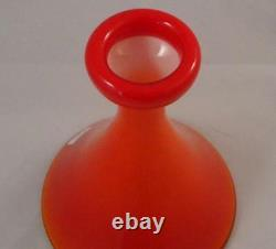 Coral & Opal 6 INCH CARNABY FUNNEL VASE by HOLMEGAARD PERFECT CONDITION