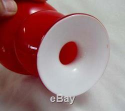 Coral & Opal Holmegaard Carnaby Ball Vase Per Lutken Danish Retro Design