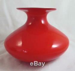 Coral & Opal Kastrup-Holmegaard Carnaby Vase Lovely Rare Find