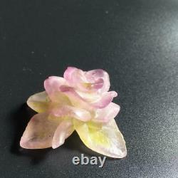 DAUM FRANCE Crystal Rose Part Veil figurine object