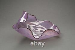 Dale Chihuly Pink 1984 Seaform, Signed contemporary glass art