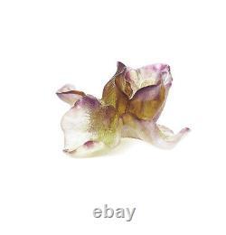 Daum Iris Purple Flower Brand New In Box #02503-1 Crystal Love France F/sh