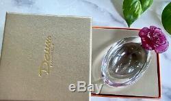 Daum Rose Passion Mini Coupelle Pate de Verre French Crystal NIB Retail $272