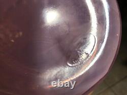 FENTON 10.5 Double Crimped Vase Hobnail Champagne Pink Iridescent Opalescent