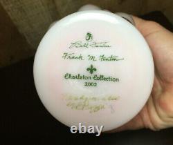 FENTON Charleton Collection Rosalene Vase Signed Bill & Frank Fenton with Base