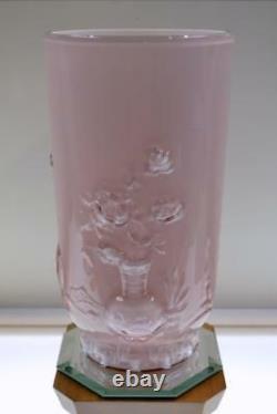 FENTON VASE Dusty Rose Pink Overlay MANDARIN Verly's Mould 1984 FREEusaSHIP