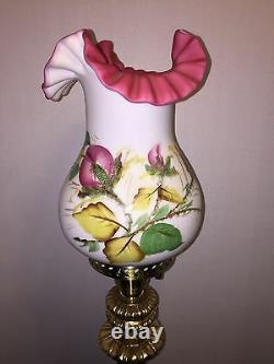 FENTON Vintage Moss Rose Lamp(2nd One)