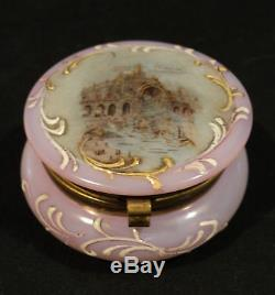 FRENCH OPALINE ART GLASS TRINKET BOX, PARIS EXPOSITION, c. 1900