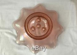 Fenton 4 Horn Vase Epergne Pink/Velva Rose Iridescent Stretch Glass 75th Candles