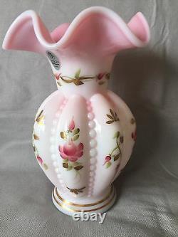 Fenton Art Glass Charleton Collection Rosalene Vase