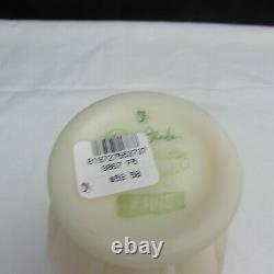 Fenton Burmese Arabella Banded Melon Hand Painted Vase LE W770