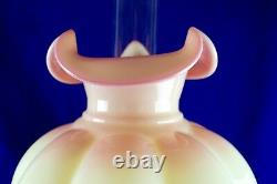 Fenton Burmese Gone With The Wind Jumbo Undecorated Lamp 28 1/2 Tall