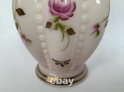 Fenton Charleton Collection Rosalene Vase 2002 Signed Bill & Frank M. Fenton
