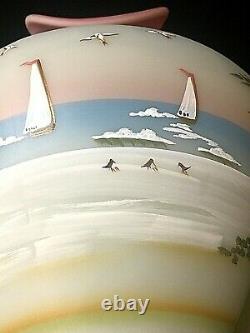 Fenton Coastal Waters Lotus Mist Burmese Limited Edition Hand-Painted Vase