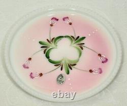 Fenton, Dresser/Vanity Set, Rosalene Glass, Hand Decorated, Limited Edition