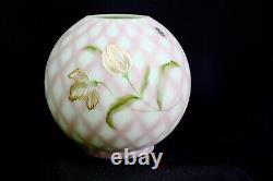 Fenton Green Lotus Mist Burmese Tulips Trellis Lamp Shade Ltd. Edition S. Waters