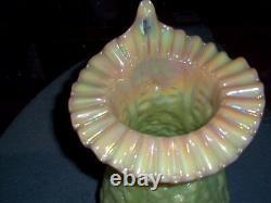 Fenton Large Burmese JIP Poppy Show Vase, RARE, HTF