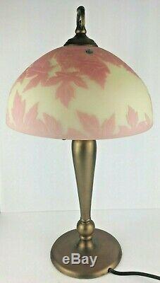 Fenton Made in Heaven Cameo Glass Lamp 51/100 Pink Burmese
