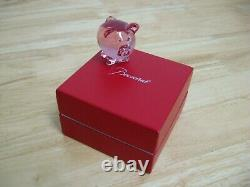 Figurine by Baccarat Pig / Babe Pink French Crystal NIB