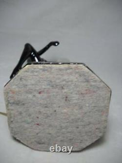 Frankart Sarsparilla Art Deco Nude Lamp with Pink Crackled Glass Shade 11