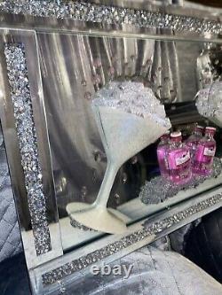 Gordons Pink Mini Gin Glasses 3D Glitter Art Mirror Picture