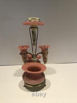Gorgeous Webb/ Burmese Hawthorn Decorated 6 pc Epergne