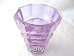 Hoffmann Moser faceted octagonal alexandrite glass vase