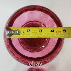 Jar Fenton Pink Cranberry Glass Apothecary Canister Pink Dish Thumbprint Glass