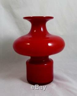 Kastrup-Holmegaard 16.5cm Carnaby Bulge Vase in Coral & Opal