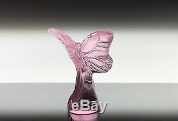 Lalique Crystal Butterfly PINK Rosee Pattern BRAND NEW IN BOX! STUNNING