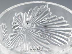 Lalique France Crystal 4-3/4 ROSE BOWL VASE DISH MAPLE LEAF DESIGN Mint Rare