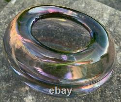 Large Heavy 4.3kg Venezia Murano Sommerso Purple Pink Cased Glass Vase Art Glass