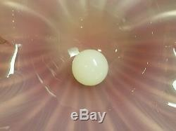 Large Pink and White Archemide Seguso Clam Shell with Pearl Murano Glass