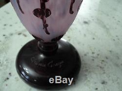 Le Verre Francaise Vase Art Deco 8.5 Tall Schneider Cameo Pink